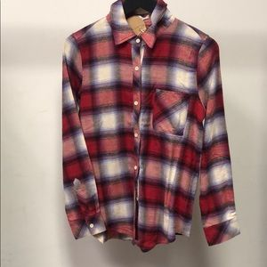 Red oversized flannel
